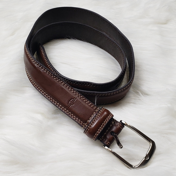 Black NWT Men/'s Dockers Feather-Edge Belt 40